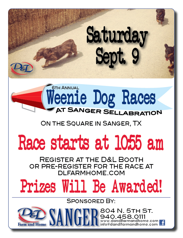 6th Annual Sanger Sellabration Weenie Dog Race Sept 9