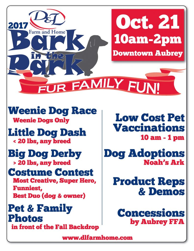 Bark In The Park October 21 Aubrey D Amp L Farm And Home